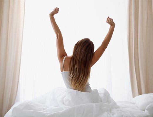 Schlafzimmer glücklich
