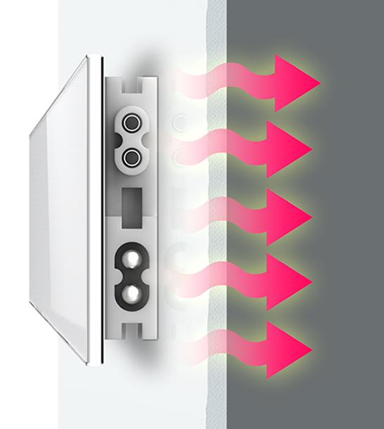 Funktion Schimmel-DRY trocknet die Wand