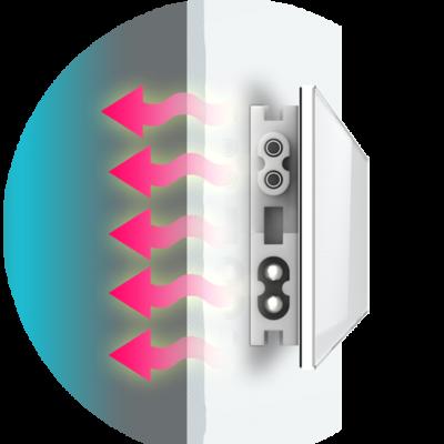Schimmel-DRY trocknet feuchte Wände mit Infrarrottechnologie